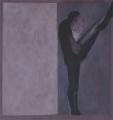 Gegen die Wand, 1984, Eitempera auf Leinwand, 160 x 150 cm