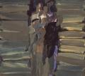 Paar 5, 1988, Eitempera auf Leinwand, 55,5 x 45 cm