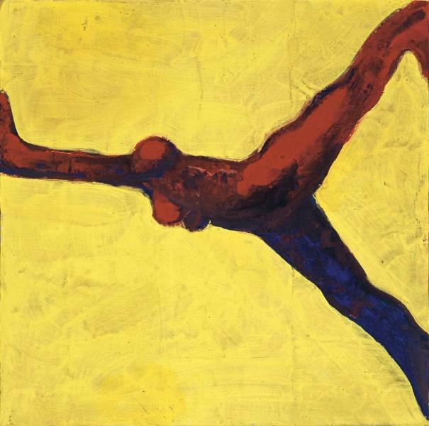 Gehe zurück auf Los, 1988, Eitempera auf Leinwand, 38 x 38 cm, Privatbesitz