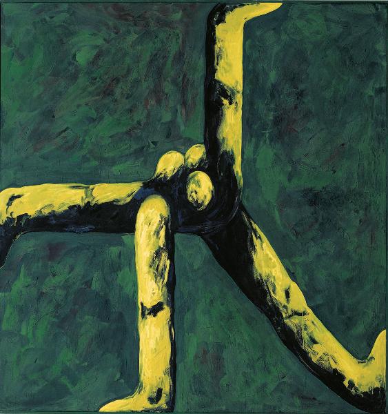 Große NIRAK, 1989, Eitempera auf Leinwand, 190 x 180 cm