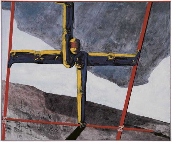 NIRAK blinde Kuh, 1992, Eitempera auf Leinwand, 149 x 178 cm, Sammlung
