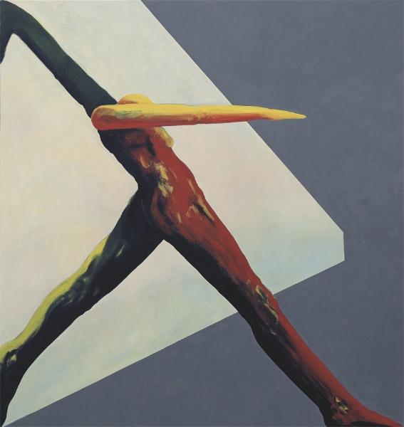 Progressive Figur, 1995, Eitempera auf Leinwand, 190 x 180 cm, Sammlung