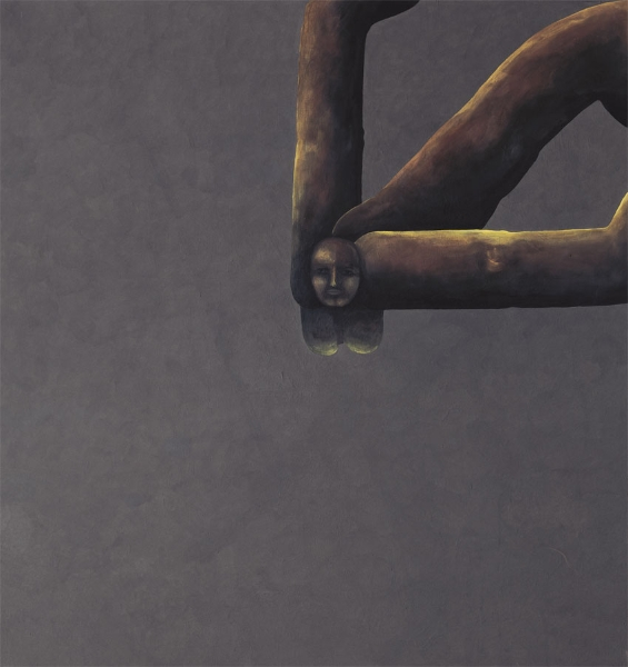 Mit freiem Raum, 1996, Eitempera auf Leinwand, 190  x 180 cm