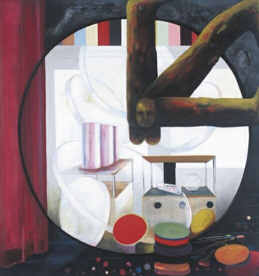 Selbst und Welt, 2004, Eitempera auf Leinwand, 190 x 180 cm